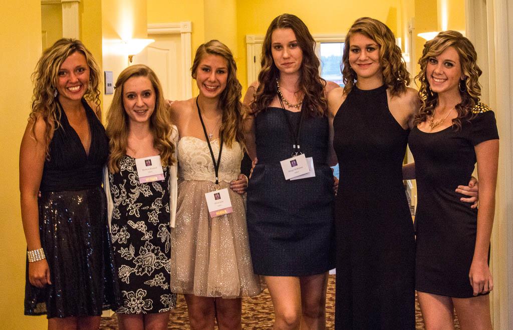 Casie Conley, Madison Kindred,      Olivia Scott, unknown friend, Margo McKinney, Emilie Kindred